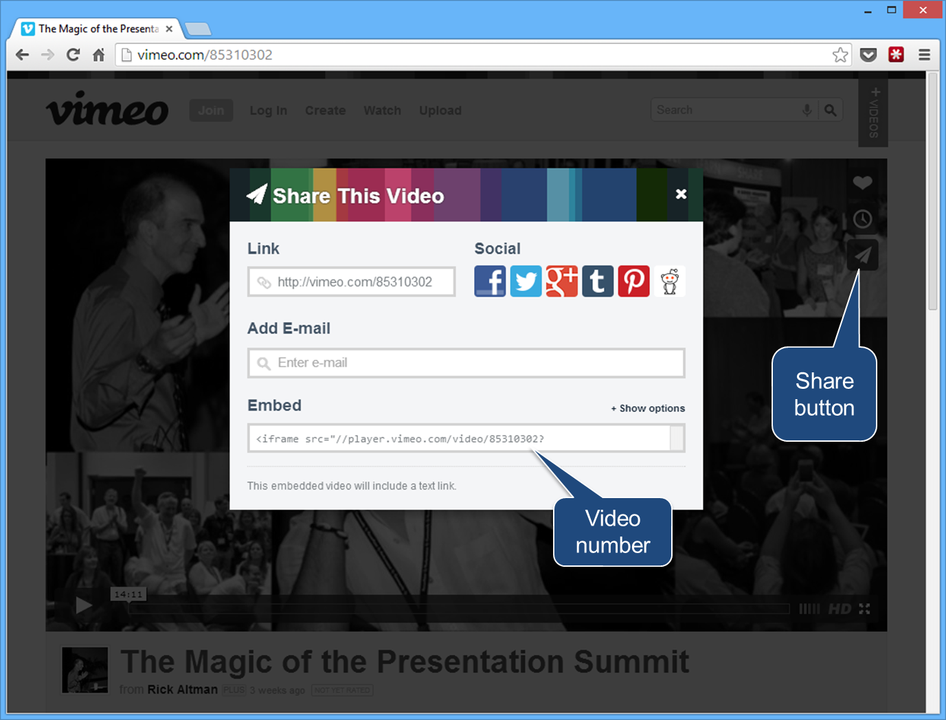 How to Play Vimeo and YouTube Videos from PowerPoint Slides