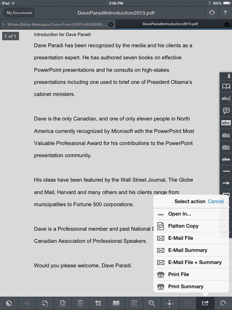 Adding a pdf document to onenote in ios think outside the slide step 2 open in onenote baditri Choice Image