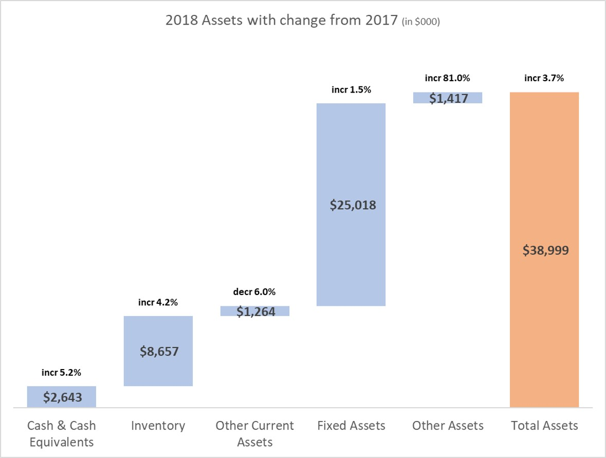 presenting the balance sheet  visually show assets  or